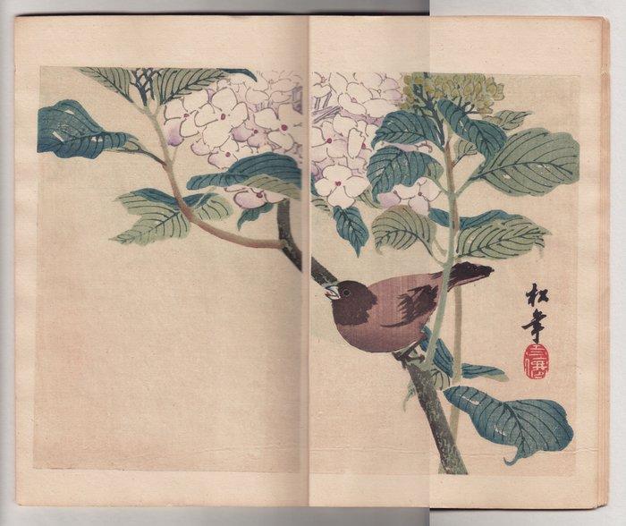 "Original woodblock print, Picture Book - various: Imao Keinen, Uemura Shoen, Kamisaka Sekka a.o. - ""Miyo no hana"" 御代の華 (Flowers of Ages), volume 5 - Japan - 1892 - Catawiki"
