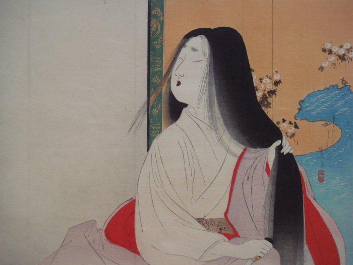 Original woodblock print - Tomioka Eisen (1864-1905) - Lady Kesa - Japan - ca 1900 (Late Meiji period) - Catawiki