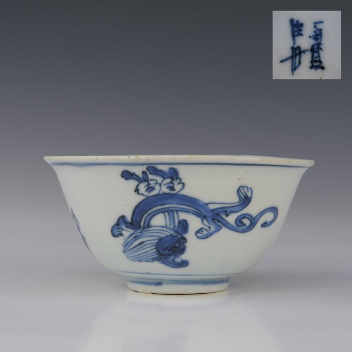Come (1) - Blue and white - Porcelain - Qilin, noticed - China - Wanli (1573-1619)