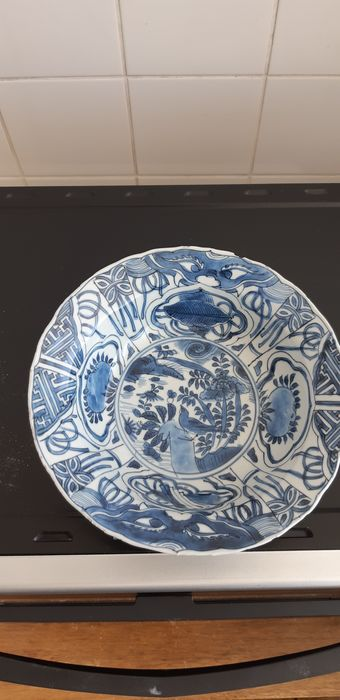 hooded hat (1) - Blue and white - Porcelain - Flowers, landscape - China - Wanli (1573-1619) - Catawiki