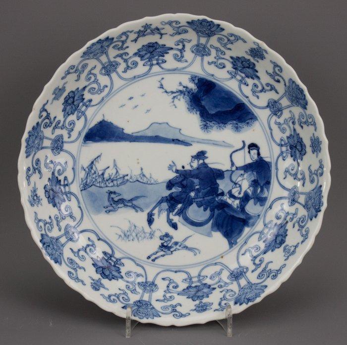 Plate - Blue and white - Porcelain - China - Kangxi (1662-1722)