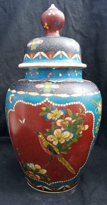 Vase - Ceramic, Cloisonne enamel - Japan - Late 19th century