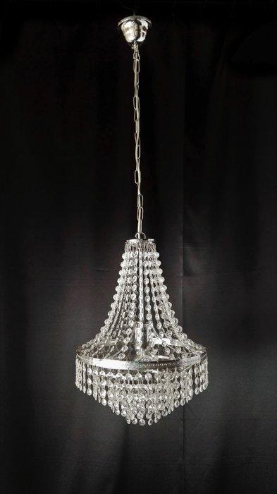 I lampadari di cristallo a cascata. Lampadario In Cristallo Cromato A Cascata Perfetto Catawiki