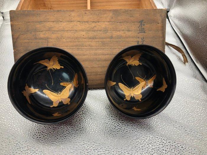 Lacquer ware/Urushi ware (2) - Wood - 杯洗 - Japan - Meiji period (1868-1912)