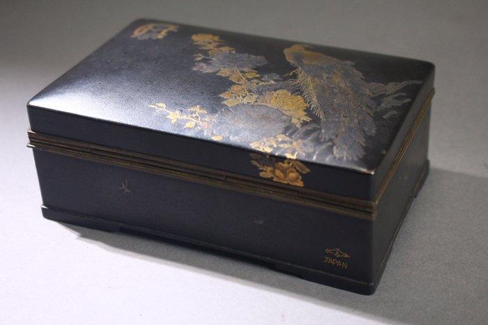 Box - Bronze - decorated with Golden Phoenix - Japan - Meiji period (1868-1912)