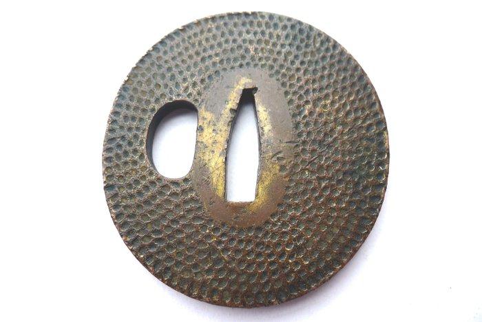 Japanese dotted copper tsuba - Copper - Japan - Late Edo period