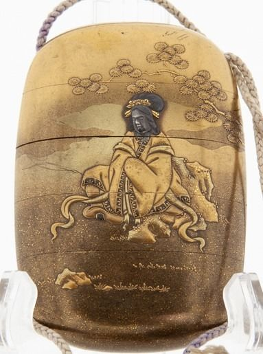 Inro, signed Kouryu. - Lacquer - Four Case Gold Lacquer Inro (印籠) - Japan - 19th century