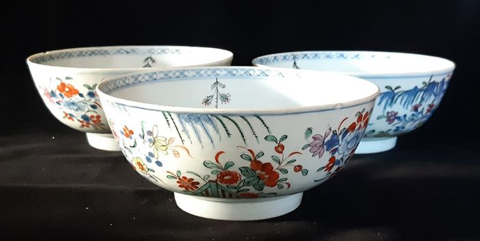 Bowl (3) - Porcelain - China - Kangxi (1662-1722)