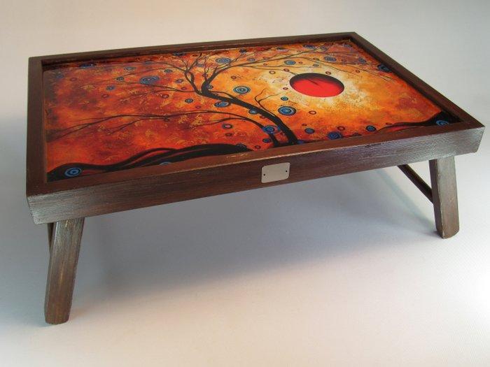 table basse pliante en bois avec