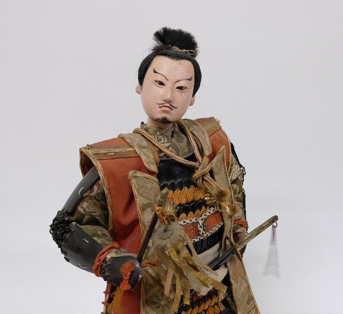 Japanese Samurai Warrior Doll Meiji period c1900 - Mixed materials - Samurai - Japan - Meiji period (1868-1912)
