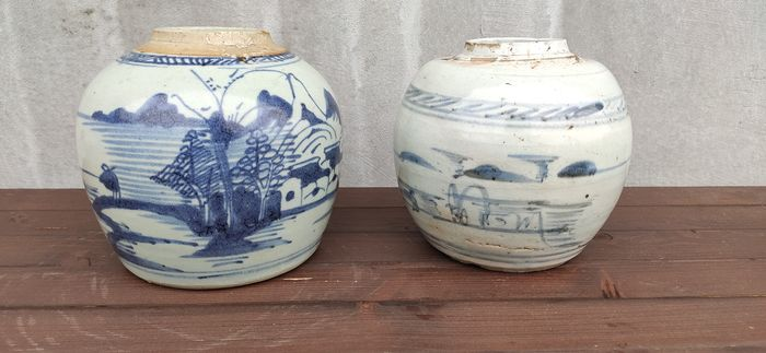Jars (2) - Porcelain - China - 19th century