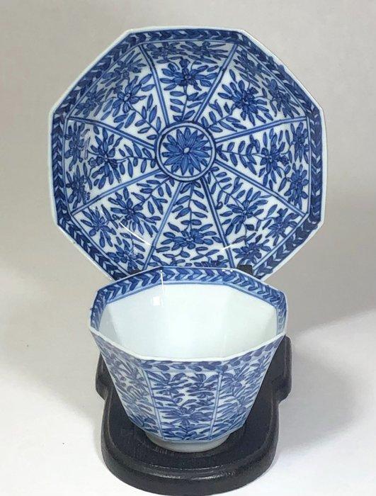 Cup, Saucer - Porcelain - China - Kangxi (1662-1722)