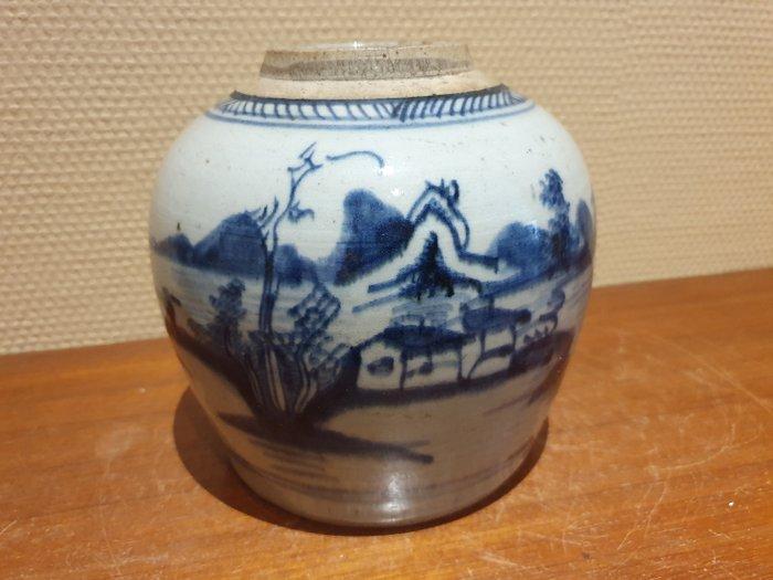 Ginger jar (1) - Porcelain - Landscape - China - 19th century