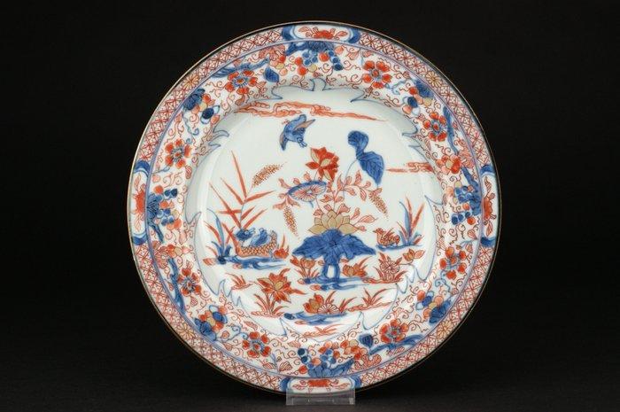 Plate - Imari - Porcelain - Mandarin duck - China - Yongzheng (1723-1735)