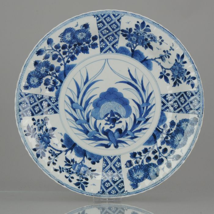 Plate - Porcelain - Antique 1700-1722 Kangxi Period Chinese Porcelain Double Plate Marked - China - Kangxi (1662-1722)