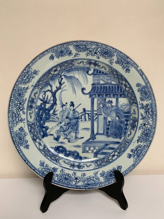 Charger - Porcelain - LARGE 34cm - Romance of the Western Chamber - *HIGH QUALITY* - China - Yongzheng (1723-1735)