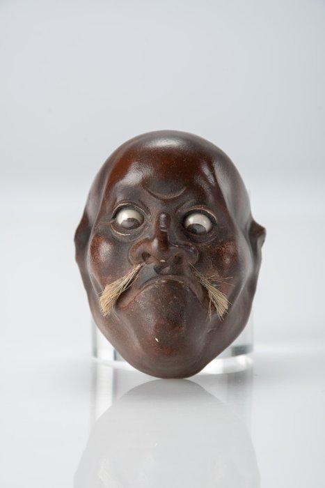 Mask - Lacquer - NO RESERVE PRICE - Maschera raffigurante il volto di un uomo - Japan - Meiji period (1868-1912)