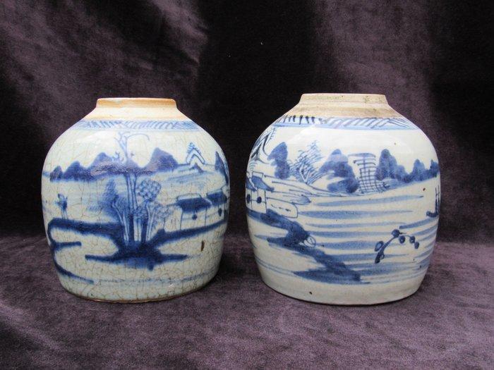Jar (2) - Porcelain - China - 19th century