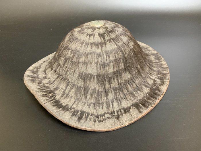 Jingasa - Wood, fur - Japanese Samurai Helmet - Japan - Edo Period (1600-1868)