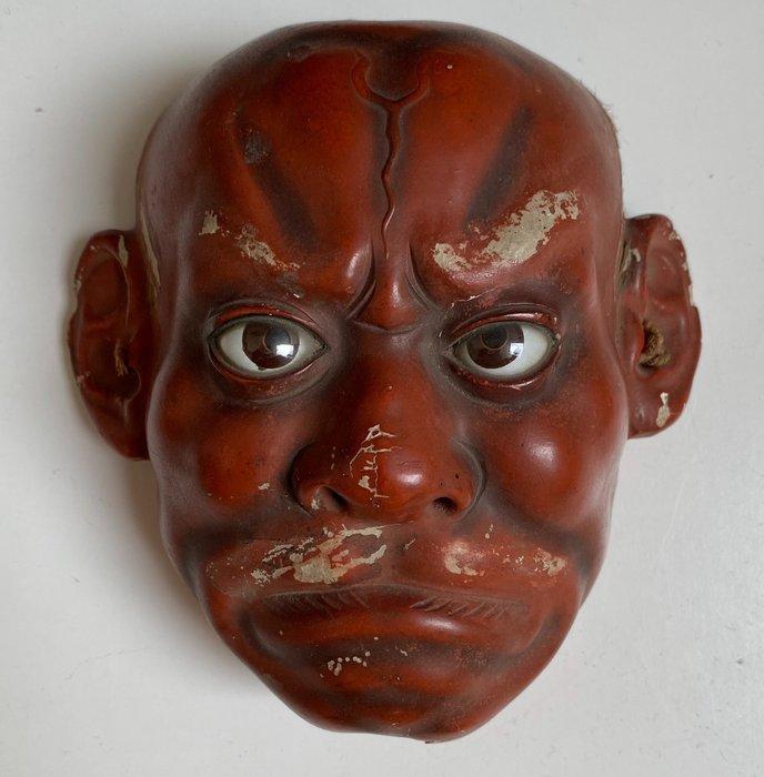 Noh mask - Cinnabar lacquer - Japan - Meiji period (1868-1912)