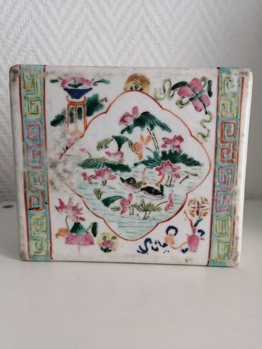 Square pillow (1) - Porcelain - China - 19th century