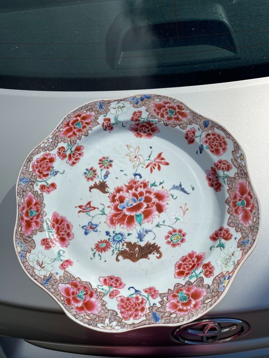 Plate (1) - Porcelain - Huge 37.6cm plate Yongzheng period - China - 18th century