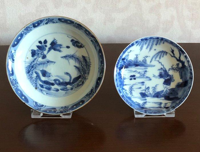 Dishes (2) - Porcelain - China - Kangxi (1662-1722)