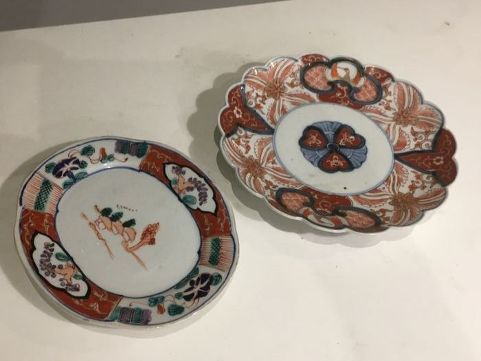 Dish, Plates (2) - Porcelain - Japan - Meiji period (1868-1912)