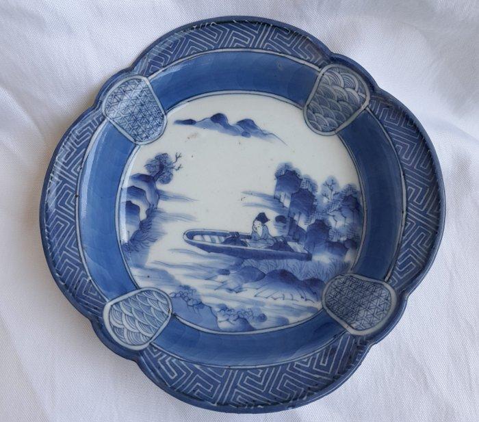 cup - Porcelain - Coupe, marked 'Fuki Choshun' 富貴長春 - Japan - Meiji period (1868-1912)