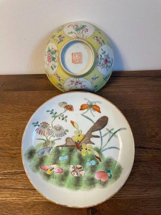 Bowl, Plate (2) - Porcelain - China - Guangxu (1875-1908)