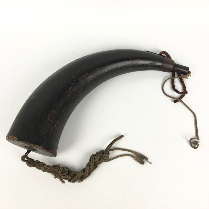 Canister of gunpowder - Leather, Wood - Japan - Edo Period (1600-1868)