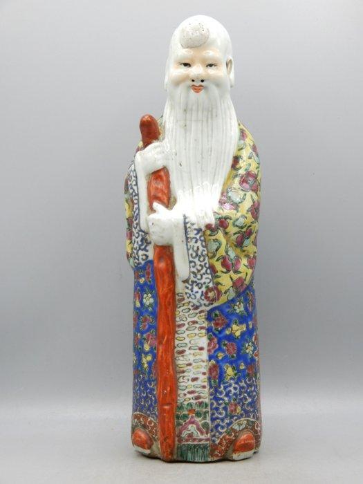Sculpture of Shao Lau - Famille rose - Porcelain - China - Republic period (1912-1949)