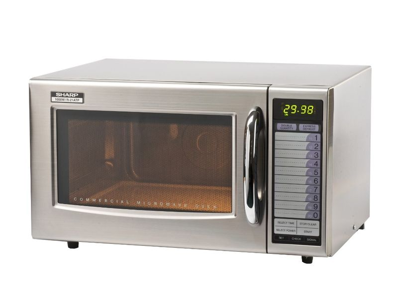 sharp r 21at 1000w commercial microwave