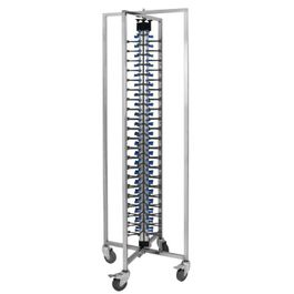Vogue GK978 Stainless Steel Mobile Plate Rack For 84 Plates