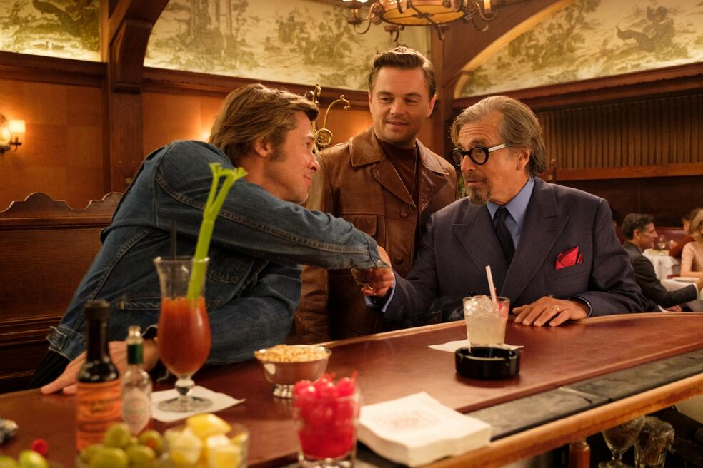 Once Upon a Time... in Hollywood mit Leonardo DiCaprio, Brad Pitt und Al Pacino