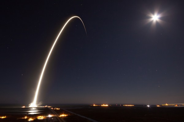 SpaceX Rocket Launch Long Exposure