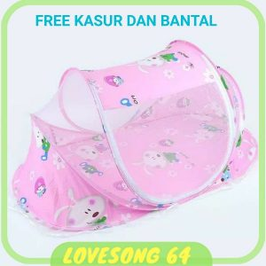 Kelambu_Bayi_Happy_Baby_Motif_Cartoon_LS101