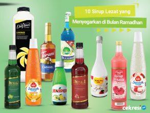 10 Rekomendasi Sirup Lezat yang Menyegarkan di Bulan Ramadhan