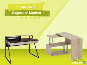 10 Meja Kerja Bagus dan Modern