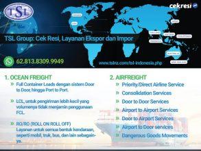 TSL Group: Cek Resi, Layanan Ekspor dan Impor