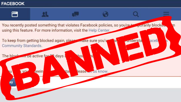 Image result for black posters facebook banned