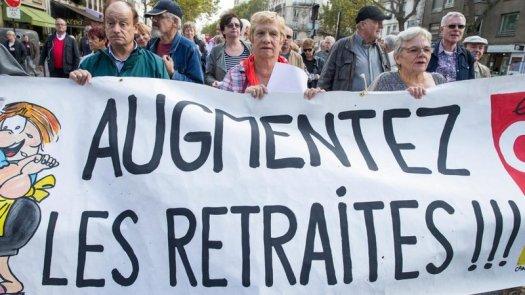 Pétition contre la baisse des retraites