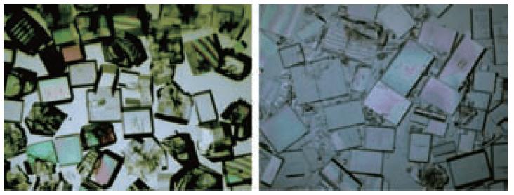 単結晶の例(出展:材料科学の基礎)