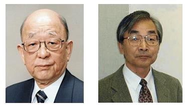 鈴木章(左)と宮浦憲夫(右)