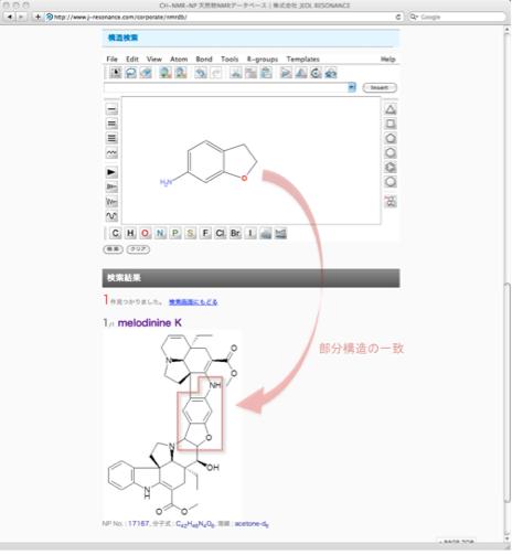 構造式検索の例