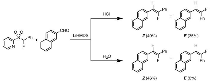 図4. 後処理の違いによる生成物の選択性の発現