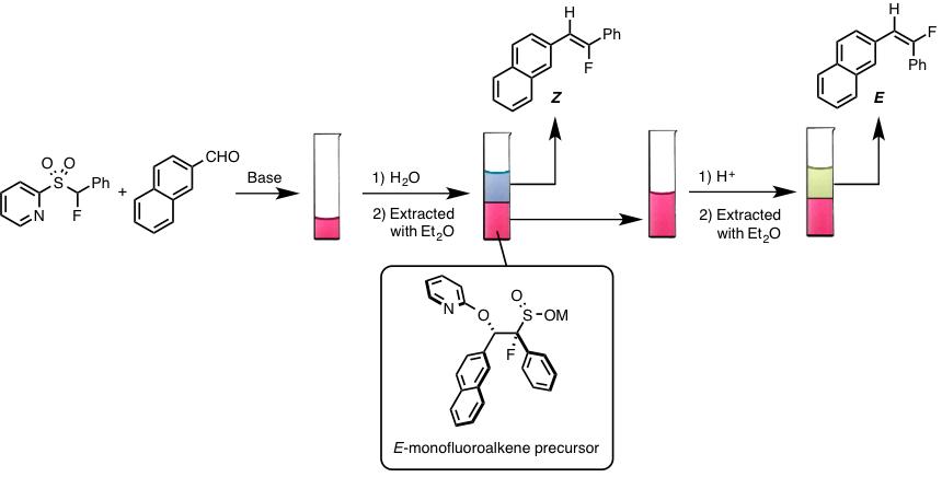 図6. E/Z体のモノフルオロアルケンの合成及び分離