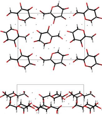 グルコースの結晶構造