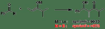 図10:リチウムエノラートとホウ素エノラートの違い