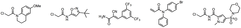 Cys-reactiveなリガンド分子の例